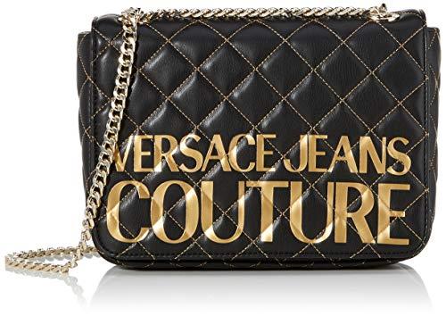 Versace jeans bag, borsa a tracolla donna, nero (nero), 7x16x24 cm (w x h x l)