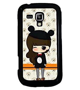 PRINTSWAG GIRL Designer Back Cover Case for SAMSUNG GALAXY S DUOS S7562