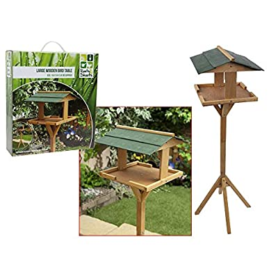 Roots And Shoots Free Standing Large Wooden Bird Table Garden Outdoor Feeder New from Roots & Shoots