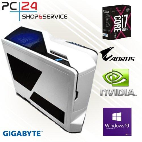 Preisvergleich Produktbild PC24 NZXT GAMER PC | INTEL i7-7820X @8x4,30GHz | 500GB Samsung M.2 960 | nVidia GF GTX 1080 mit 8GB RAM | 16GB DDR4 PC2133 RAM G.Skill | Gigabyte AORUS X299 Gaming 3 | Windows 10 Pro | i7 Gaming PC