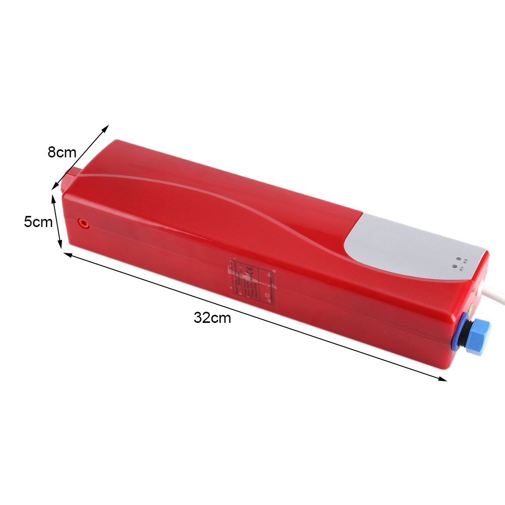 Mini calentador el/éctrico instant/áneo calentador de agua el/éctrico 220 V c/álido port/átil para cocina ba/ño mini calentador autom/ático 3000 W instant/áneo