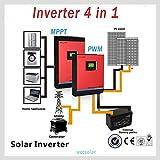 INVERSOR HIBRIDO INVERTER SOLAR 3KVA 24V ONDA PURA MPPT 60A INVERSOR+REGULADOR+CARGADOR 3 EN 1