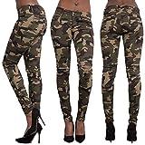Yumimi Damen Hosen Jeanshosen Streetwear Leggings Jumpsuits Camouflage Bedruckt Loch BeiläUfige Enge Bleistift FüßE Hosen Stretch Loch Leder Hosen Denim Anzug Breite Beinhosen Camouflage Jogginghose