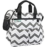Diaper Bag For Boys And Girls Premium Cotton Canvas 9 Pockets Gift Wet / Dry Bag And Baby Cushioned Changing Mat Bonus EBook Best Shower Gift