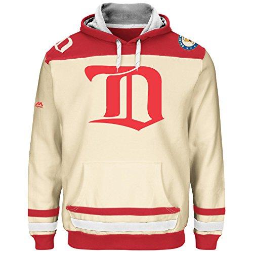 NHL Kaputzenpullover/Hoody DETROIT RED WINGS vintage Double Minor hooded sweater in LARGE (L) (Vintage Red Wing)