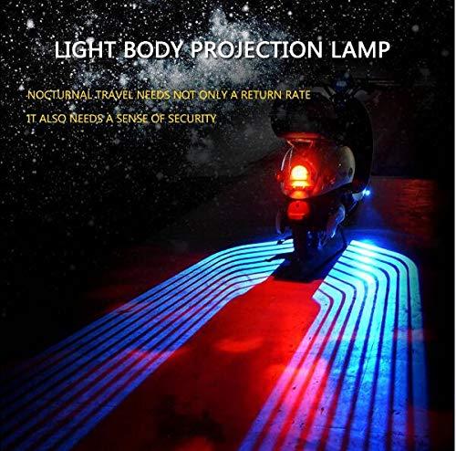 QMKJ Motorrad Blinker Licht Motorrad Nachtfahrlicht Autocycle Stop Lampe Kompatibel mit 8-26V Motorrad,White - Stop-lampe Linse