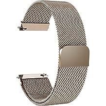 Fullmosa 6 Colores para Correa de Reloj, Milanese Piel Correa Huawei Samsung Correa/Banda