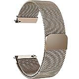 Fullmosa Milanese 20mm Uhrenarmband, Milanese Smart Watch Armand Ersatzband mit Edelstahl Magnet-Verschluss für 20mm Gold