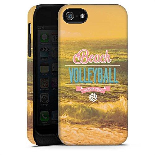 Apple iPhone 4 Housse Étui Silicone Coque Protection Volleyball Plage Été Cas Tough terne