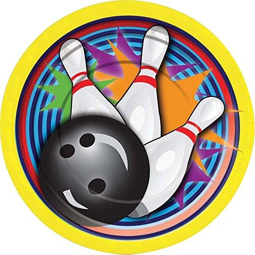 BOWLINGKUGEL UND KEGELN Bowling ball and pins 12 essbare hochwertige stehende Kuchen Toppers