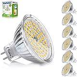 Yafido 6x GU5.3 LED 12V MR16 Lampadine Bianco Caldo 5W Equivalente a 35W Lampada Alogena GU 5.3 Faretti Luce 2800K 400LM Non-Dimmerabile Ø50 x 48 mm (Confezione da 6)