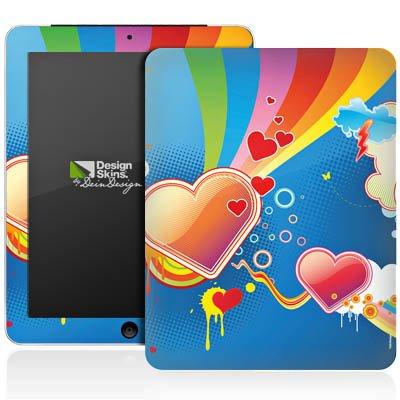 Apple iPad 1 Aufkleber Schutz Folie Design Sticker Skin Herz Love Regenbogen Bunt - Heartland-zubehör