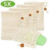 Seifensäckchen, Yvonnesly Seifenbeutel 5X Sisal Seifensäckchen Seifentasche Seife Peeling Massage...