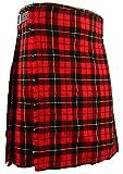Kilt scozzese tradizionale in Wallace tartan, tutte le misure