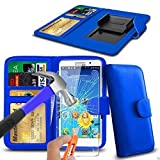 N4U Online® Blue Clip On PU Leather Wallet Case Cover &