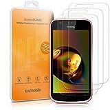 kwmobile 2X Nokia 1 Folie - Glas Handy Schutzfolie für Nokia 1 - Full Screen Bildschirm Schutz
