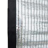 WYJW Paralume 75% Crema Solare, Foglio Riflettente in Alluminio Paralume Rete Resistente ai Raggi UV - Bordo nastrato con Gommini (Dimensioni: 1x1M)