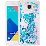 """Nnopbeclik [Coque Samsung Galaxy A5 2016 Silicone] Paillettes Briller Style Backcover Doux Soft Housse pour Samsung Galaxy A5 2016 Coque silicone Transparente """"A510F"""" (5.2 Pouce) Antichoc Protection Antiglisse Anti-Scratch Etui """"NOT FOR A5 2015 5.0"""" - [Bleu1]"""