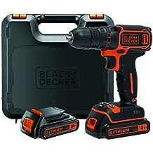 Black+Decker BDCDC18KB-QW - Taladro atornillador 18V 1.5Ah con maletín y 2 baterías 1.5Ah
