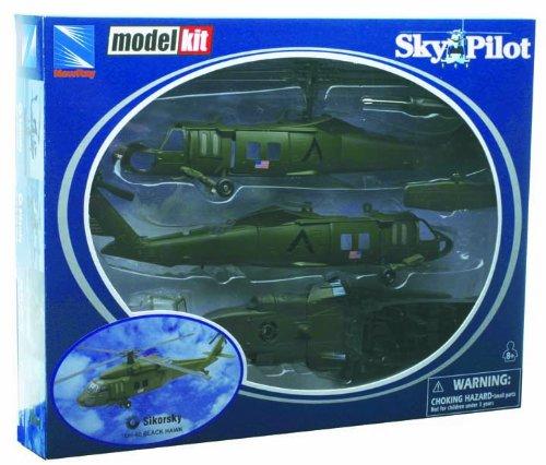"NewRay 25565 - Militärhubschrauber-Modellbausatz \""Sikorsky Uh-60 Black Hawk\"" 1:60"