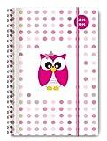 Collegetimer Pink Owl 2014/2015 - Schülerkalender A5 - Weekly - Ringbindung - 224 Seiten
