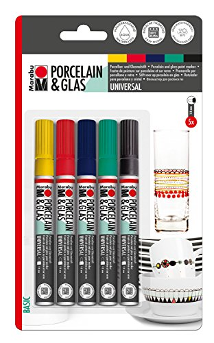 Marabu 012300080 - Porcelain Painter Basic, sortiert