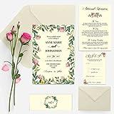 """Invitación de boda del paquete """"Secret Garden"""" Floreado elegante"""