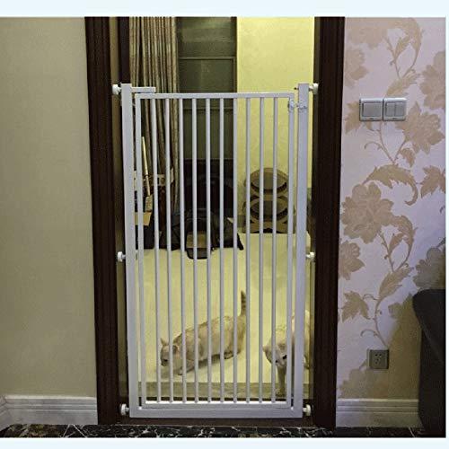 1 M Großer Pet Gates-Hundeschutz Mit Durchgangstür Und Ausziehbarem Sicherheitstor Aus Metall, An Der Eingangstreppe An Der Wand Montiert, Weiß (Size : 86-88cm) (Große Pet-gate)