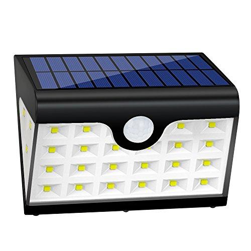 Lamparas Solares GRDE 28 LED Ultra Brillante Luz Solar con Waterproof IP65 y Lux 300, Luces Led Solares para Exterior Actividades, Jardin, Patios, Terrazas, Caminos, Escaleras, Entradas, etc (1 pack)