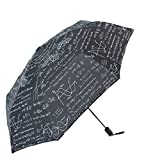 LUOJIN Regenschirm Portable Rainproof, Anti-Uv, Regenfest, Taschenschirm, Black Sun Umbrella, Mathematik, 黑色