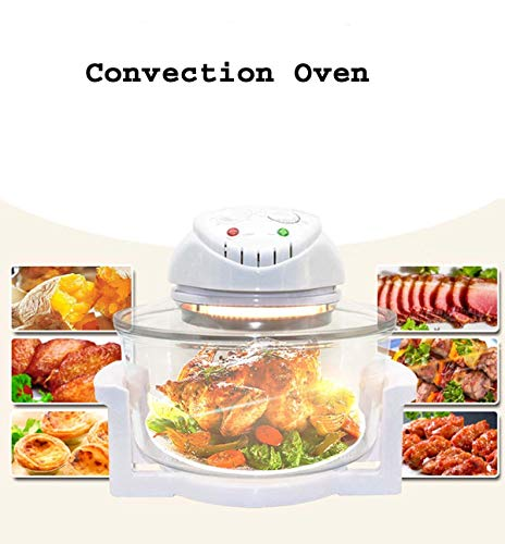 Om Anvay® Glass Plastic Convection Oven with Stainless Steel (12L)
