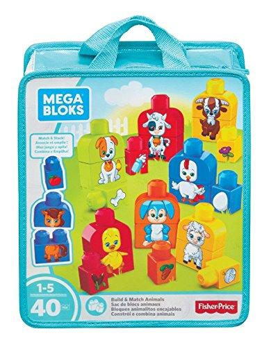 Fisher-Price Mega Bloks - Bloques animalitos encajables (Mattel FLT36)