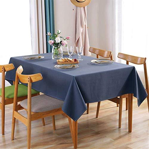 nen Einfarbig wasserdichte Tischdecke Küchenparty Tischdecken Hochzeitsfeier Dekoration E 120x160cm ()