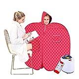 Yxx max Tragbare Dampfsaunen Detox Sweat Box Falten Sauna Dampf Box Schweissmaschine (Farbe : Red)