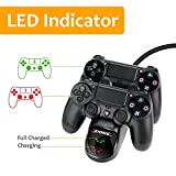 PS4 Controller Charger, PS4 Charging Dock, USB Dual Charger with Charging Station Stand LED Indicator for PlayStation 4 / Dualshock 4 / PS4 Pro Controller / PS4 Slim