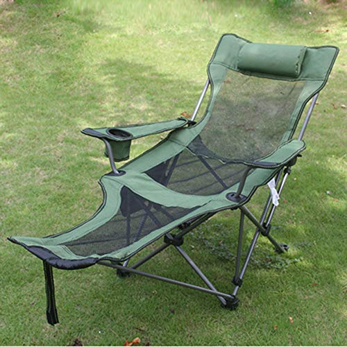 YANGCHENTT Angeln Stuhl Liege tragbare Multifunktions-Outdoor-Liegestuhl (grünes Netz) -