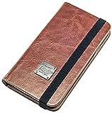 QIOTTI Book Slim Classic Case für Samsung Galaxy S4 GT-I9505 Braun