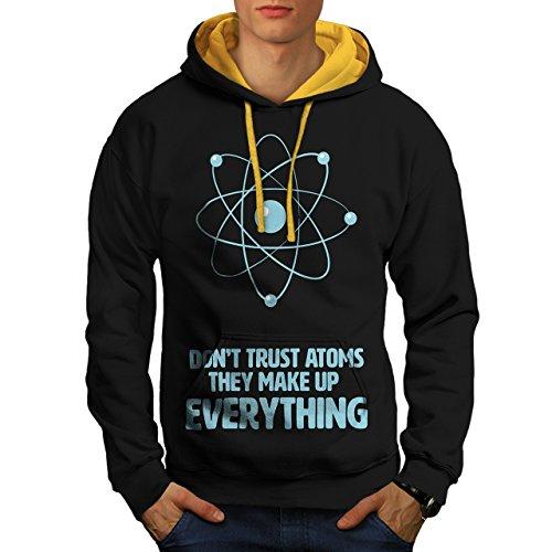 ne-pas-confiance-atome-science-homme-nouveau-noir-avec-capuche-dore-xl-capuchon-contraste-wellcoda