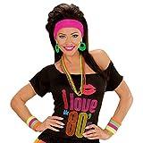 Neonfarbene Schweißbänder leuchtende Armbänder grelle 80er Armstulpen Aerobic Outfit Zubehör leuchtende Pulswärmer Fitness Accessoire Mottoparty Zubehör