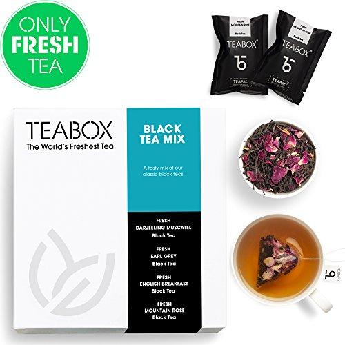 Muestra de té negro Teabox