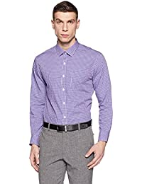 Arrow Men's Checkered Slim Fit Cotton Formal Shirt