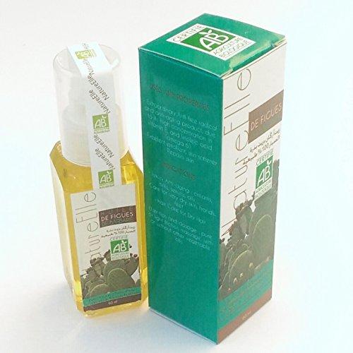 NatureElle Huile de figue de barbarie - Excellent émollient pour la peau - Extraordinaire anti-age - Spray 60 ml