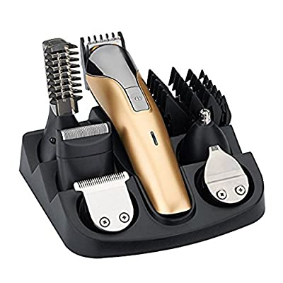 iXpro All in One Rechargeable Electric Hair Grooming Kit,Nose Ear Body Trimmer Beard Mustache Shaver