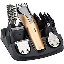 WINLINK Todo en uno recargable eléctrico Kit cortador de cabello, Trimmer del cuerpo Nariz Oreja Diseñador afeitar de bigote barba Cortador de pelo para peluquero con peines