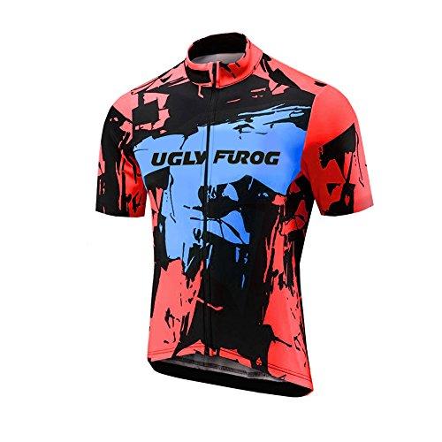 Uglyfrog AT01 2018-2019 MTB Rennrad New Herren schließen Hülsen Zyklus Jersey Kurzarm Fahrradtrikot Fahrrad Hemd Fahrrad Top Outdoor Sports Radfahren Männer Trikot