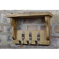 Bent Fork Coat Hooks / Rack