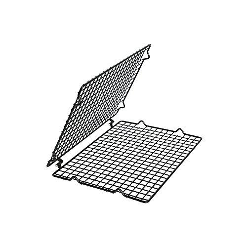 KAISER Auskühlgitter faltbar ø 45 x 30 bzw. 23 x 30 cm Pâtisserie gute Antihaftbeschichtung gleichmäßiges und schnelles Auskühlen extra große Auskühlfläche