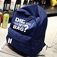 BKPEER Backpack Korea Boys Star Bag Did You See My Bag Print Army Back Packs Travel Laptop Bag Student School Book Bag
