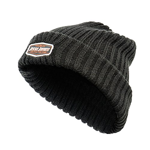 West Coast Choppers Jesse James Knitted Beanie-Berretto con Logo, resistente, colore: nero
