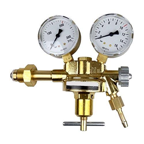 Preisvergleich Produktbild Druckminderer Flaschendruckregler Druckluft 200bar Pressluft für Druckluftflasche Pressluftflasche 0-10 bar von Gase Dopp